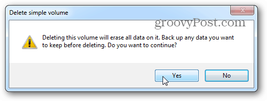 erase all data > yes