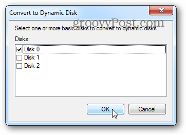 select disks for dynamic array
