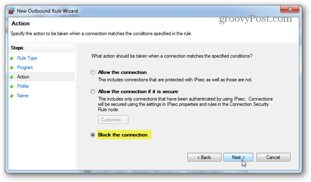 Use the Windows Firewall to Block a Program From Internet Access