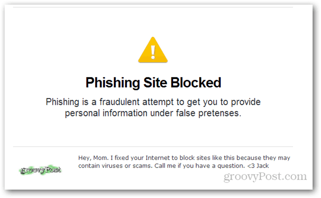 opendns phishing site blocked