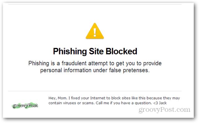 opendns phishing site blocked