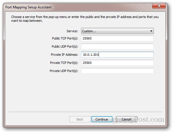 port forwarding on apple router