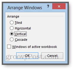 arange windows of active workbook excel 2013