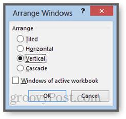 arange windows of active workbook excel 2013