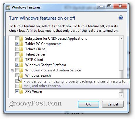 windows search