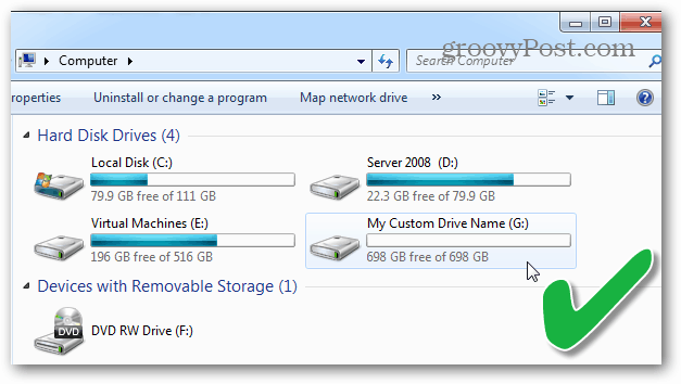 list of hard disk drives in windows file explorer