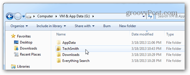 validate techsmith folder