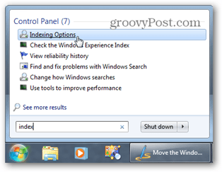 windows 7 start menu search
