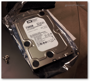 new hdd on anti-static plastic