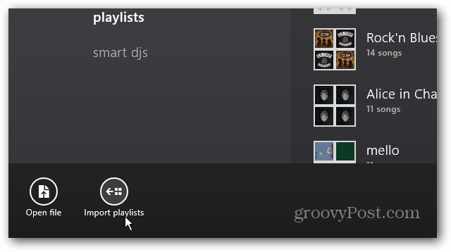 import Playlists
