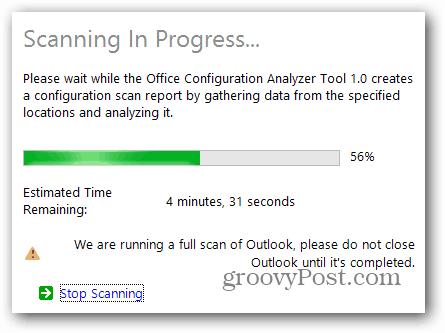 scan progress