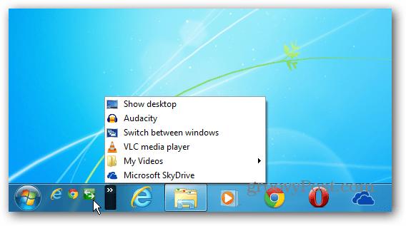 shortcut Quick Launch