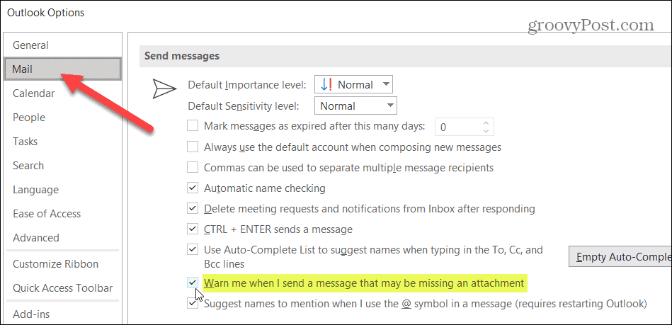 Outlook-Send Message