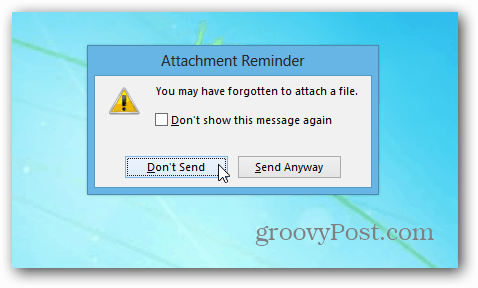 Attachment Reminder