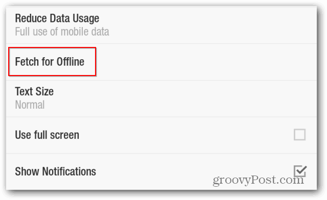 Flipboard reduce mobile data use  reduce data usage fetch for offline