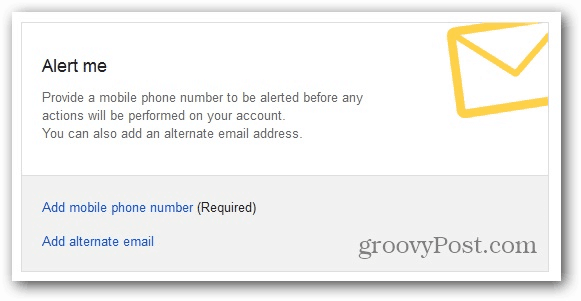 Google Inactive Account Manager alert