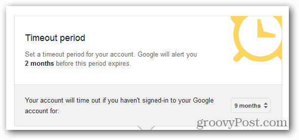 Google Inactive Account Manager period