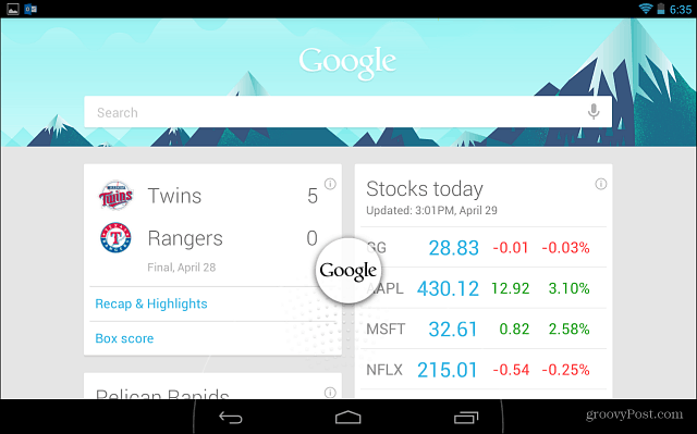 Google Now Cards Android