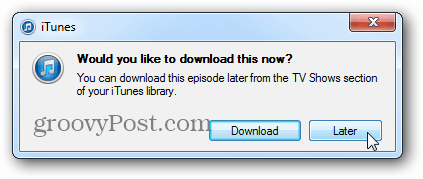 Download Purchased Movies and TV Shows From iTunes Later