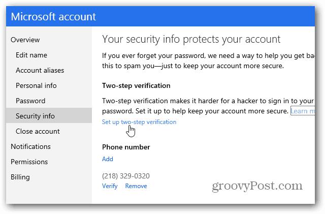 Security Info