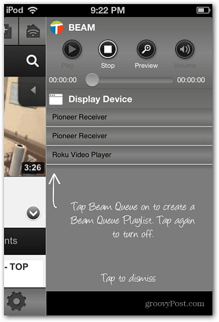 Select Device to Beam