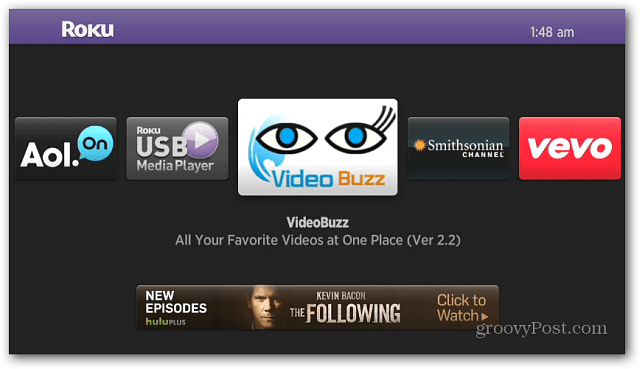 Video Buzz Channel Roku