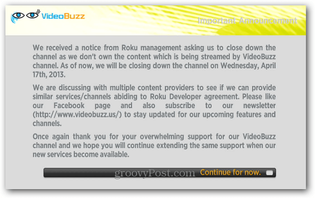 Video Buzz Shutting Down