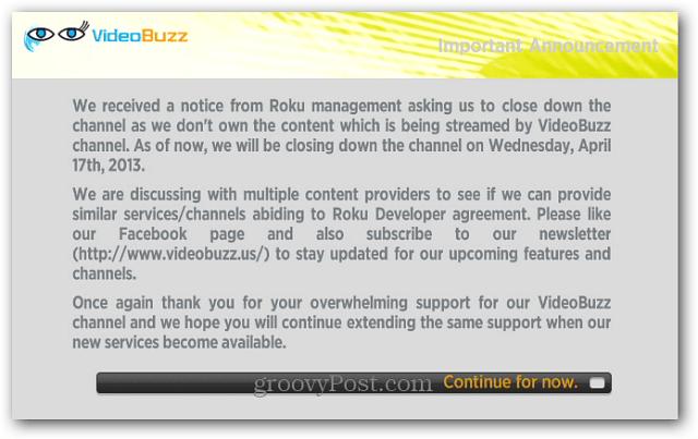 Video Buzz Shutting Down