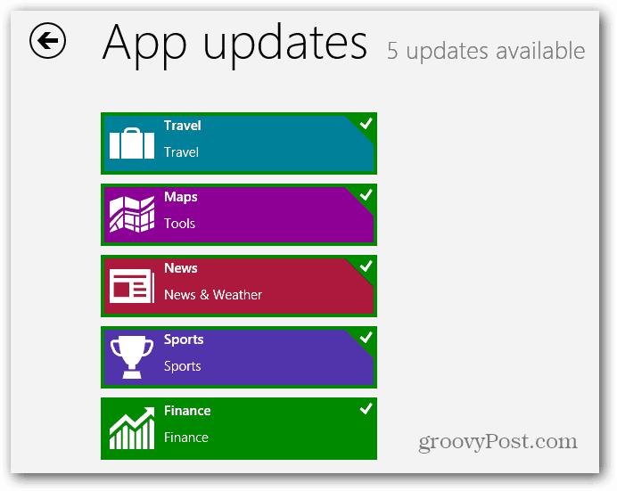 Windows 8 RT App Updates