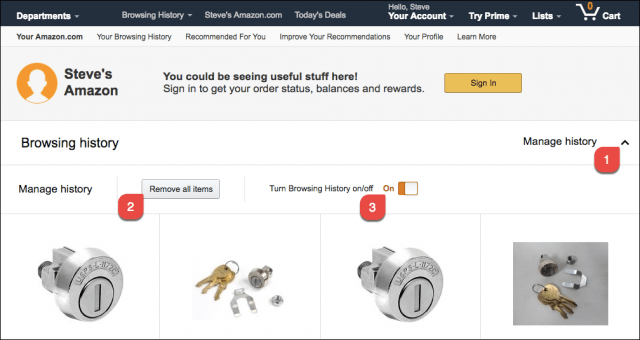 How to Clear or Delete Your Amazon com Browsing History