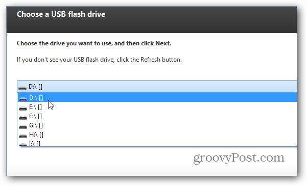 choose drive