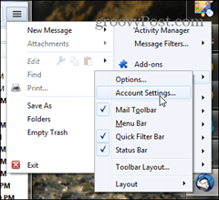 thunderbird account settings option