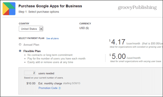 google apps charging $5 a month or $50 a year