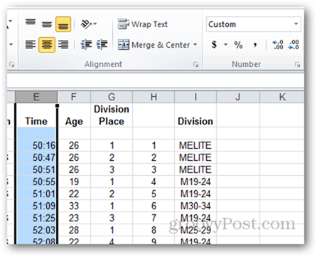updating custom number formatting on many rows