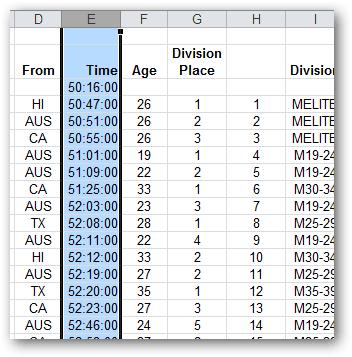 applying custom number formatting mulitple rows