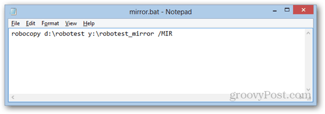 Automatically Mirror Files in Windows to a Network Drive with Robocopy