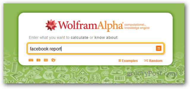 wolfram alpha facebook report