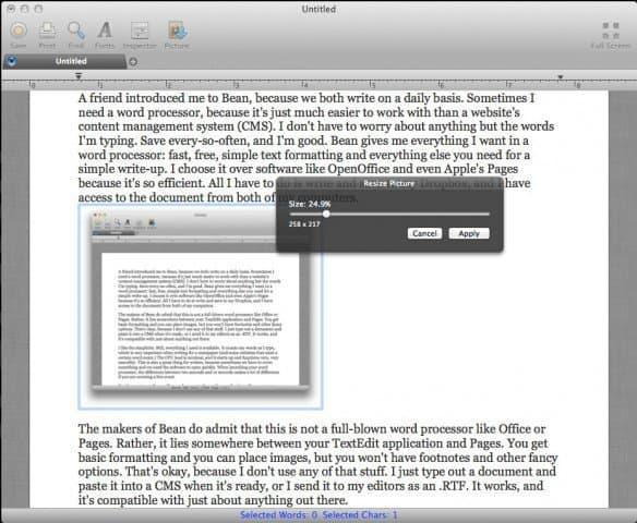 Bean: My Favorite Word Processor for Mac