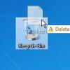 Delete Recycle Bin