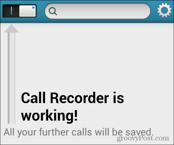 Enable Recording
