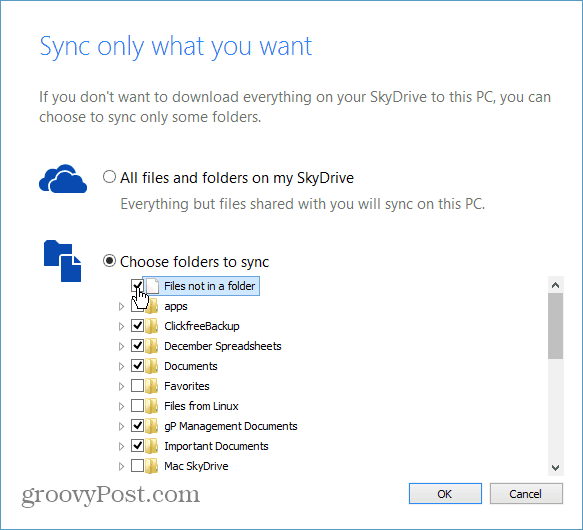 Folders to Sync