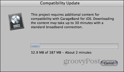 GarageBand Compatibility Update