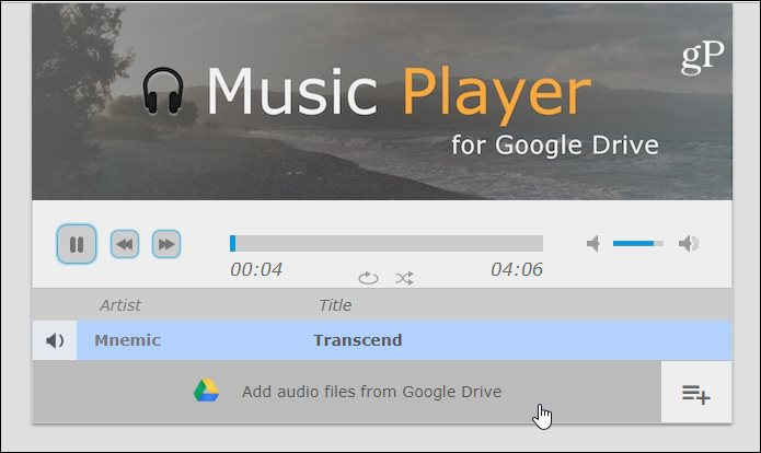 How To Play Music Files Directly from Google Drive