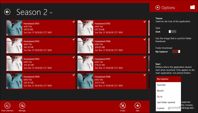 My Explorer Windows 8 App