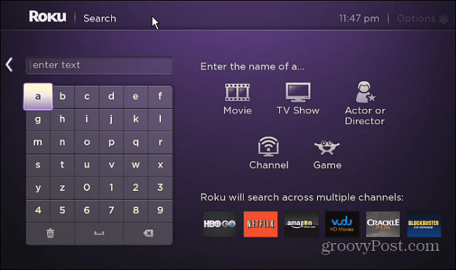 New Roku Search