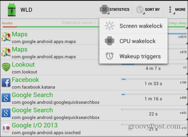 Wakelock detector Statistics