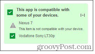 app incompatible device
