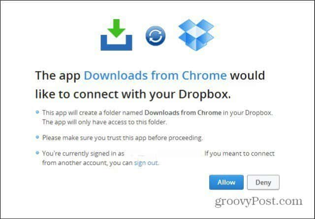 download to dropbox allow