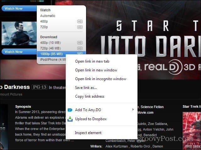 download to dropbox upload