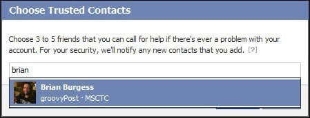 facebook add trusted contacts